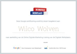 Google Certificaat Online Marketing